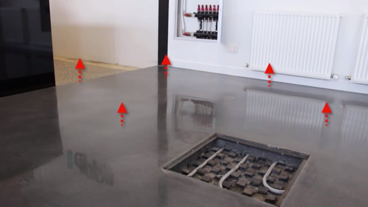 Answered how does a hydronic underfloor slab heating - How do heated bathroom floors work ...