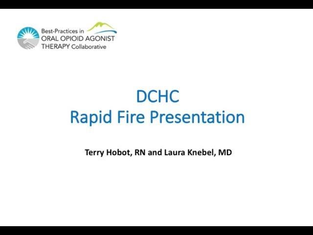 Down Town Community Health Centre Rapid Fire Presentation