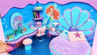 DIY Miniature Dollhouse Room ~ Ariel Room Decor