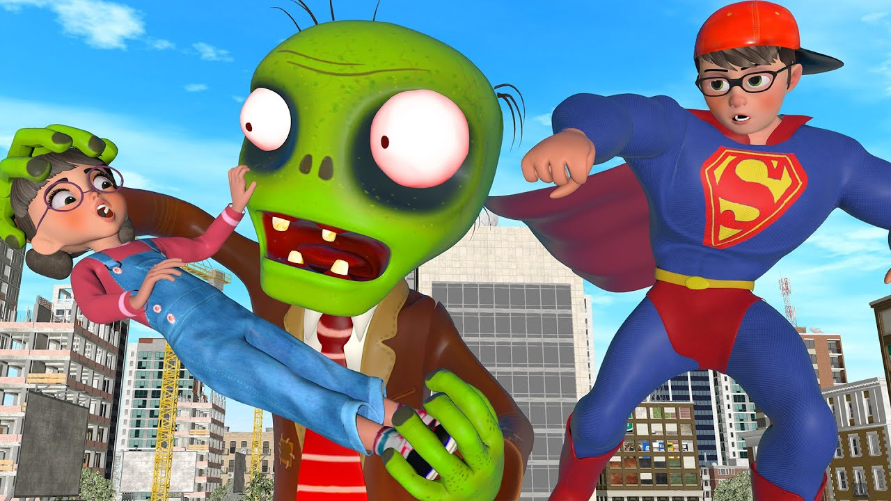 Download Nick SuperMan Hero - Rescue Tani and MissT from Zombies - Scary Teacher 3D - BuzzStar Animation