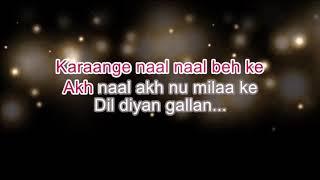 Dil Diyan Gallan Karaoke with Scrolling Lyrics/Aatif aslam/salman khan