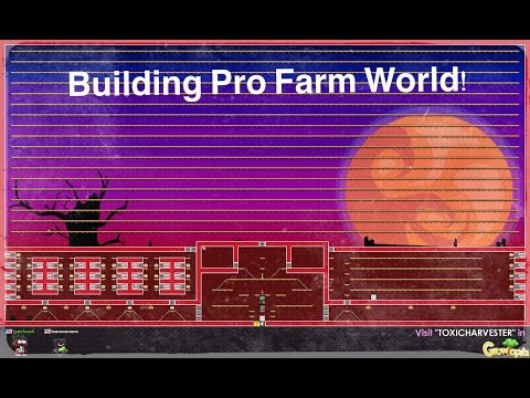 Growtopia - Building a pro farm world!