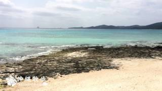 沖縄散歩 仲里村奥武島の畳石