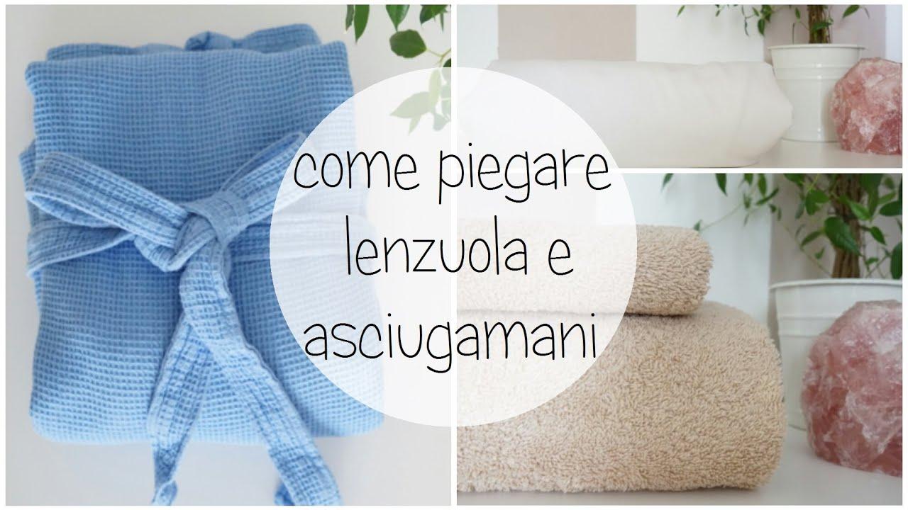 Piegare Asciugamani Forme : Come piego lenzuola e asciugamani youtube