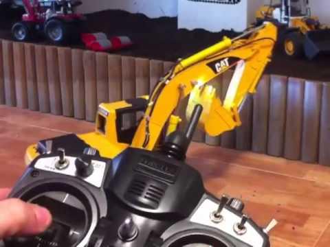 Escavadeira Hidráulica Trator Controle Remoto Rc Cat