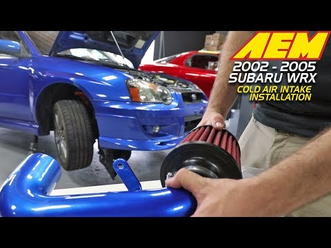 HOW TO INSTALL AN AEM COLD AIR INTAKE: 2002-2005 SUBARU WRX