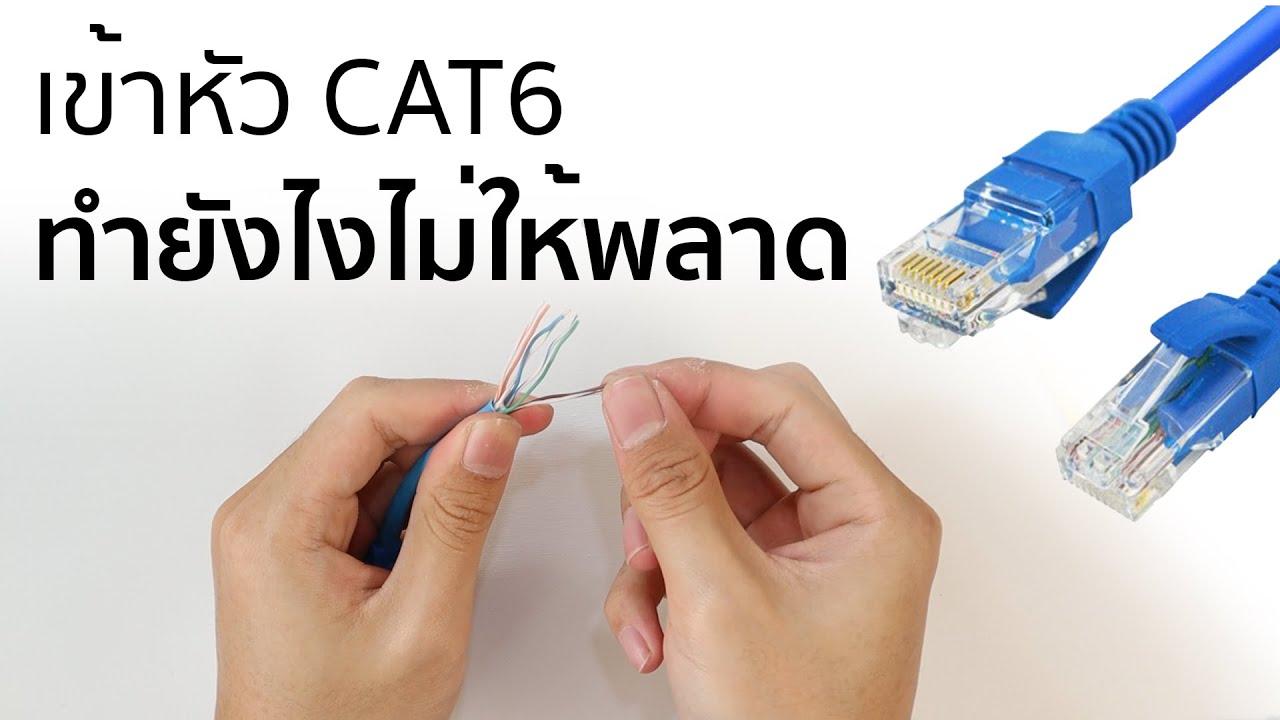 วิธีการเข้าสายแลน CAT6 - ทำยังไงไม่ให้พลาด?