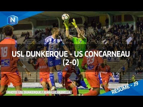 J9: USL Dunkerque - US Concarneau (2-0), le résumé