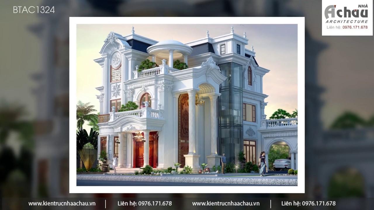 Mẫu  Biệt Thự Đẹp 2019 – Biệt Thự 3 tầng Tân Cổ Điển