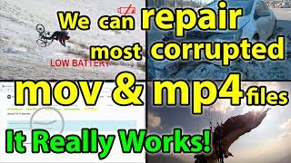 How to repair corrupted mp4 or mov file online