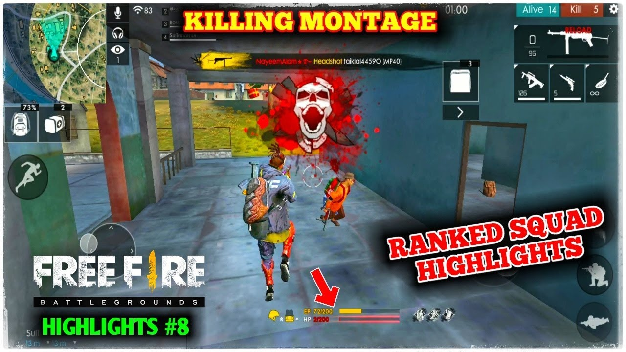 Free Fire Ranked Kills Montage Nayeemalam In Pro Lobby Gameplay Highlights