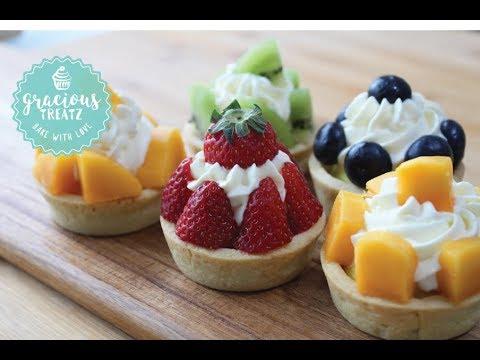 Eggless Tart with Pastry Cream | Fruit Tart