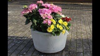 Beton Blumenkübel