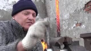 Şam Çeliğinden Müthiş Dövme Bıçak Yapımı