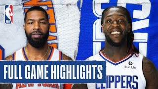 KNICKS at CLIPPERS | FULL GAME HIGHLIGHTS | January 5, 2020