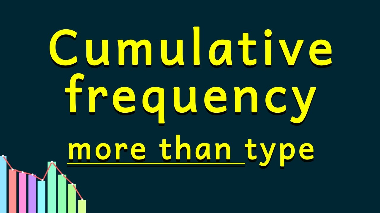 Statistics  Cumulative Frequency Distribution  More Than Type Ogive   Grade X Class 10 Maths  Youtube