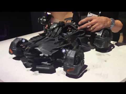 The new Justice League Batmobile looks