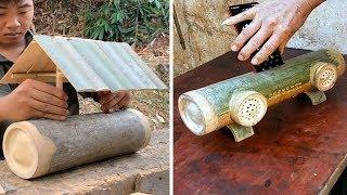 12 creative handcraft skill make useful item from bamboo & wood