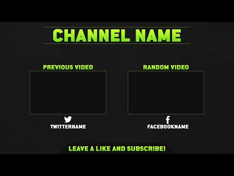 youtube video outro template psd file included by finestshots. Black Bedroom Furniture Sets. Home Design Ideas
