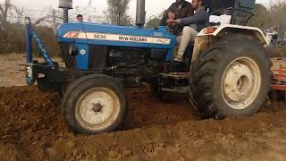 New holland 5630 tractor performed with 2 harrow