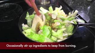 Healthy Southern Sauteed Cabbage & Onions
