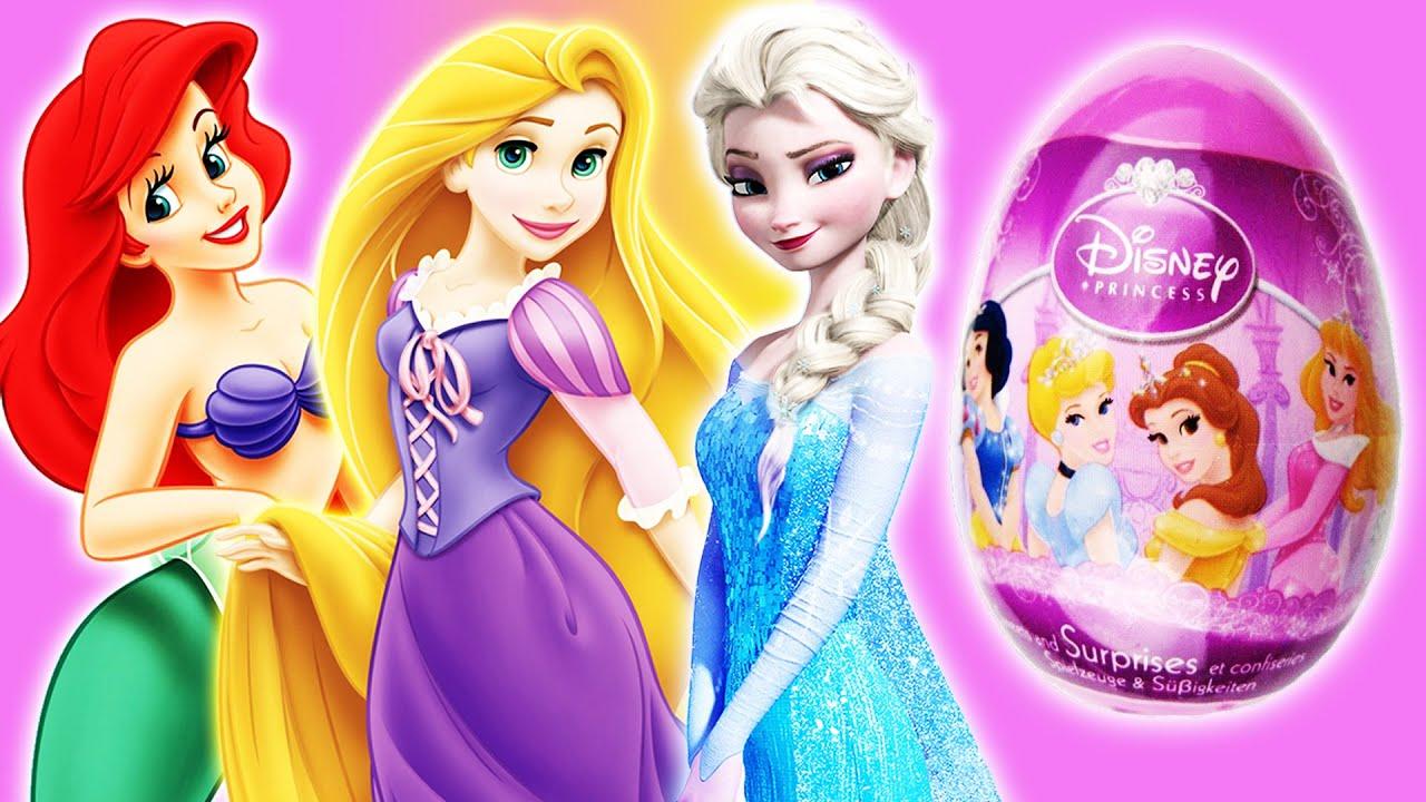 Disney Princess Movie Surprise Egg Of Frozen Elsa Amp Anna