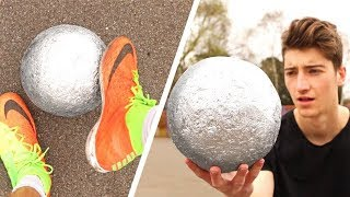 connectYoutube - Playing FOOTBALL with a MIRROR-POLISHED FOIL BALL!!