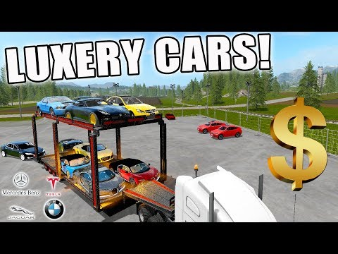 LUXURY CAR DELIVERY | + CAR DEALERSHIP BUILD | CONSTRUCTION | FARMING SIMULATOR 2017
