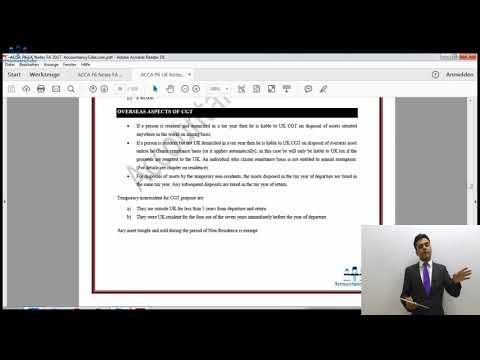 ACCA P6 UK | Overseas aspects of CGT | AccountancyTube.com