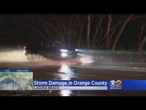Storm Prompts Road Closures In Laguna Beach