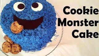 How To Decorate (easy) Cookie Monster Cake