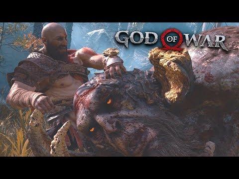 God of War 2018 - Deer Hunt + Daudi Kaupmadr Troll Boss Fight