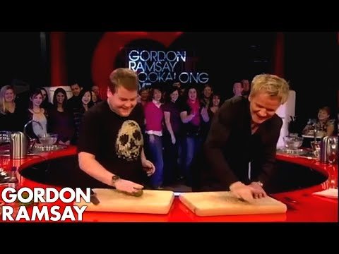 James Corden Tells Gordon Jamie Oliver Taught Him To Cook  Gordon Ramsay