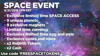 SPACE EVENT! NEW MAGNETS, PETS, CURRENCY AND MORE (Roblox Magnet Simulator)