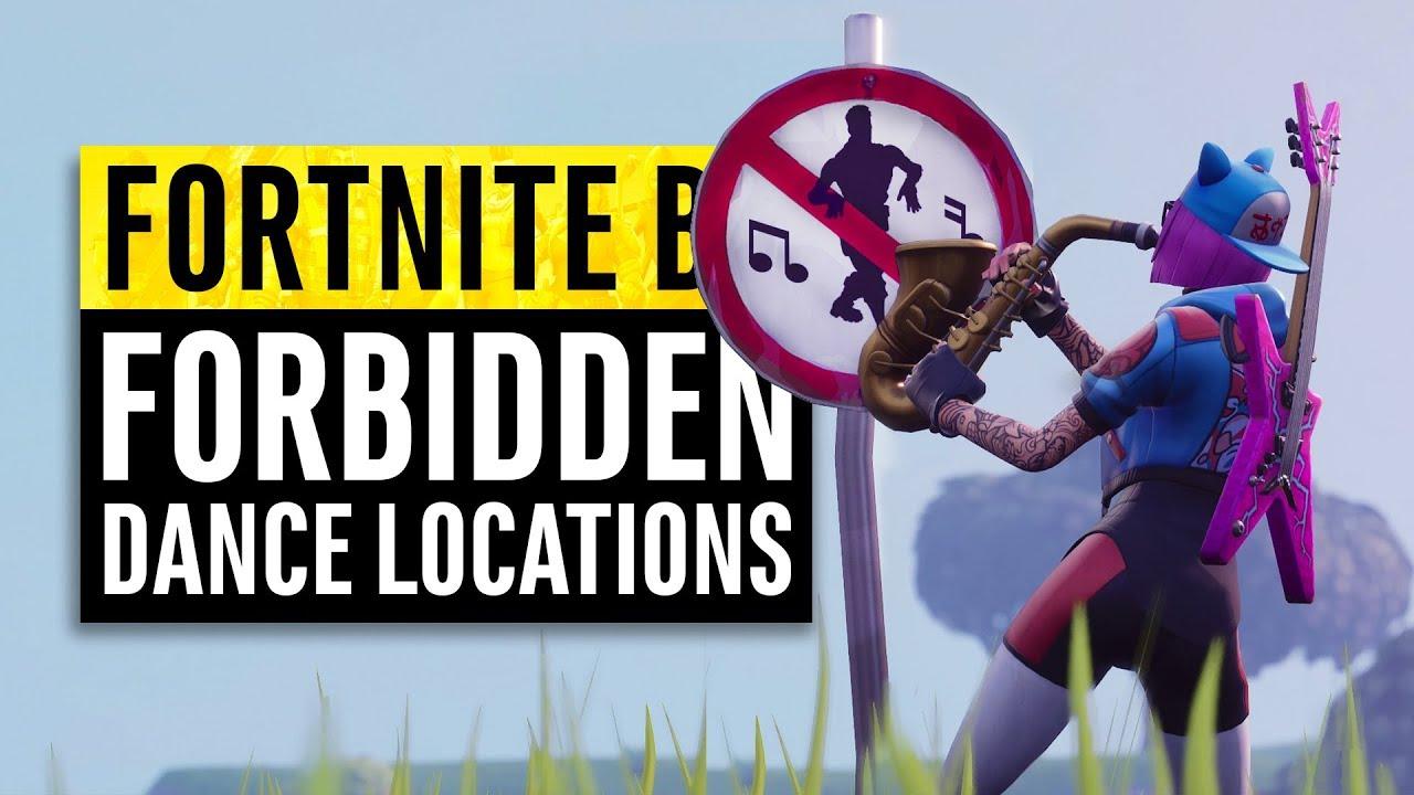 Fortnite Dance In Different Forbidden Locations Guide Season 7