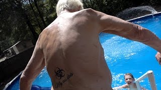 ANGRY GRANDPA GOES SWIMMING!