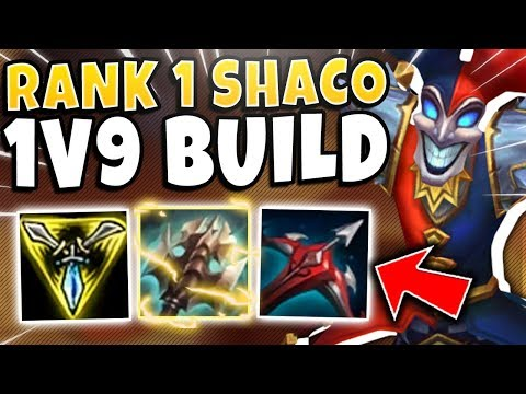 THIS NEW #1 SHACO WORLD BUILD IS 100% NUTS! (ULTIMATE 1V9 BUILD) - League Of Legends