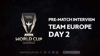 Team Europe Pre-Match Interview for Arena of Valor World Cup 2018