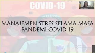 Manajemen Stres saat Pandemi