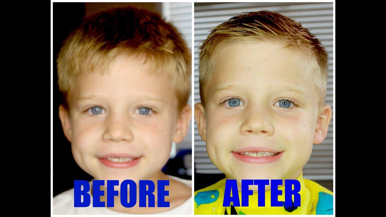 how to: cut boys hair!!