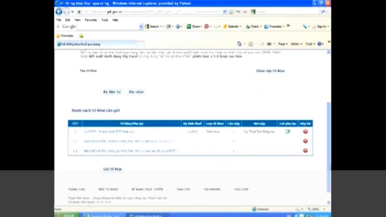 Cách kê khai thuế qua mạng trang tổng cục thuế nhantokhai.gdt.gov.vn