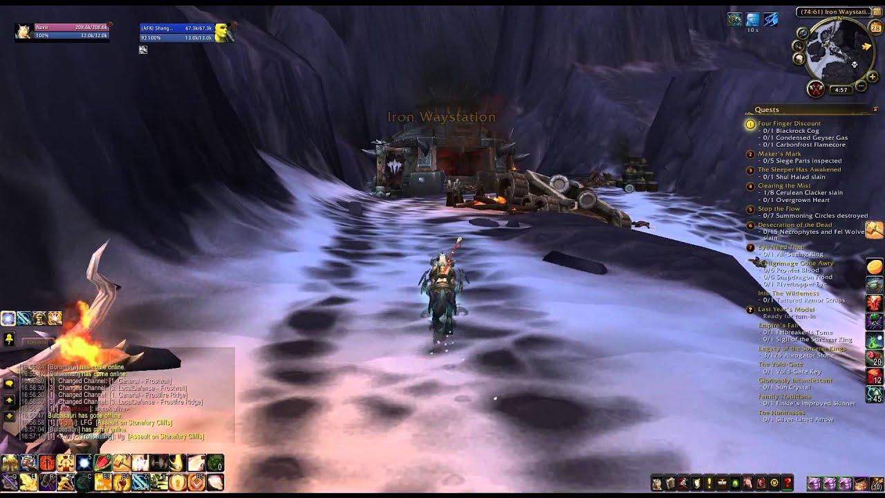 Where Is Iron Waystation Wod Explore Frostfire Ridge Youtube