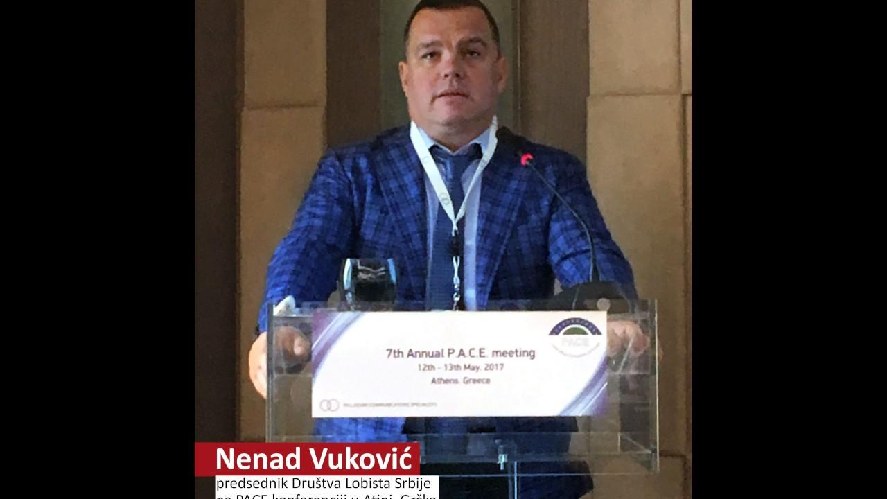 Nenad Vuković, predednik Društva Lobista Srbije na PACE ...