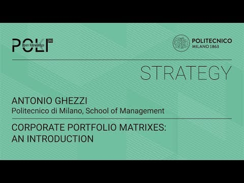 Corporate portfolio matrixes: an introduction (Antonio Ghezzi)