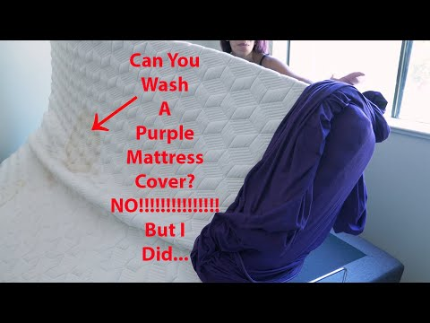 Can You Wash a Purple Mattress Cover?