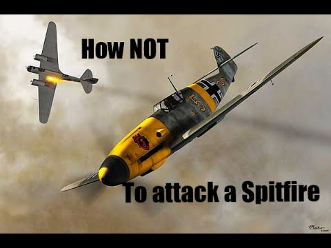 How not to perform a reversal - BF109 vs Spitfire - Warthunder Realistic