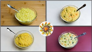 4 Dinner Ideas for Kids (10+ Month Old to 2Year Toddlers)   4 Khichdi Recipes for Toddlers/Kids