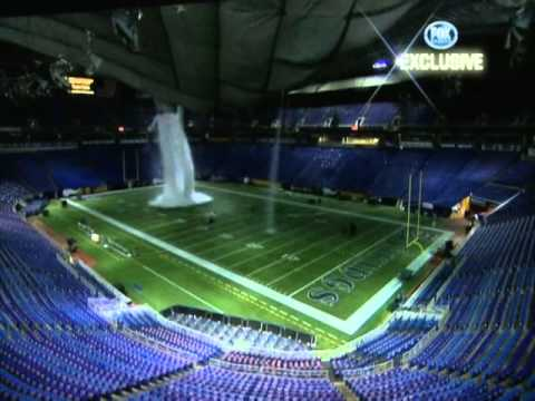 Metrodome Roof Collapse Video From  Inside Metrodome