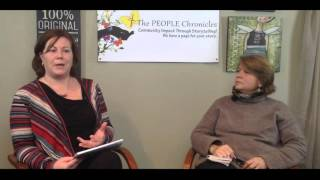 Tami Shimp, talks with  Lynne T Burkholder, Director of the Wider School.