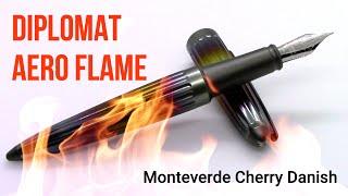 Diplomat Aero Flame / Monteverde Cherry Danish / Fountain Pen Review